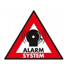 König Sec-st-as Sticker Alarm System 123 X 148 mm